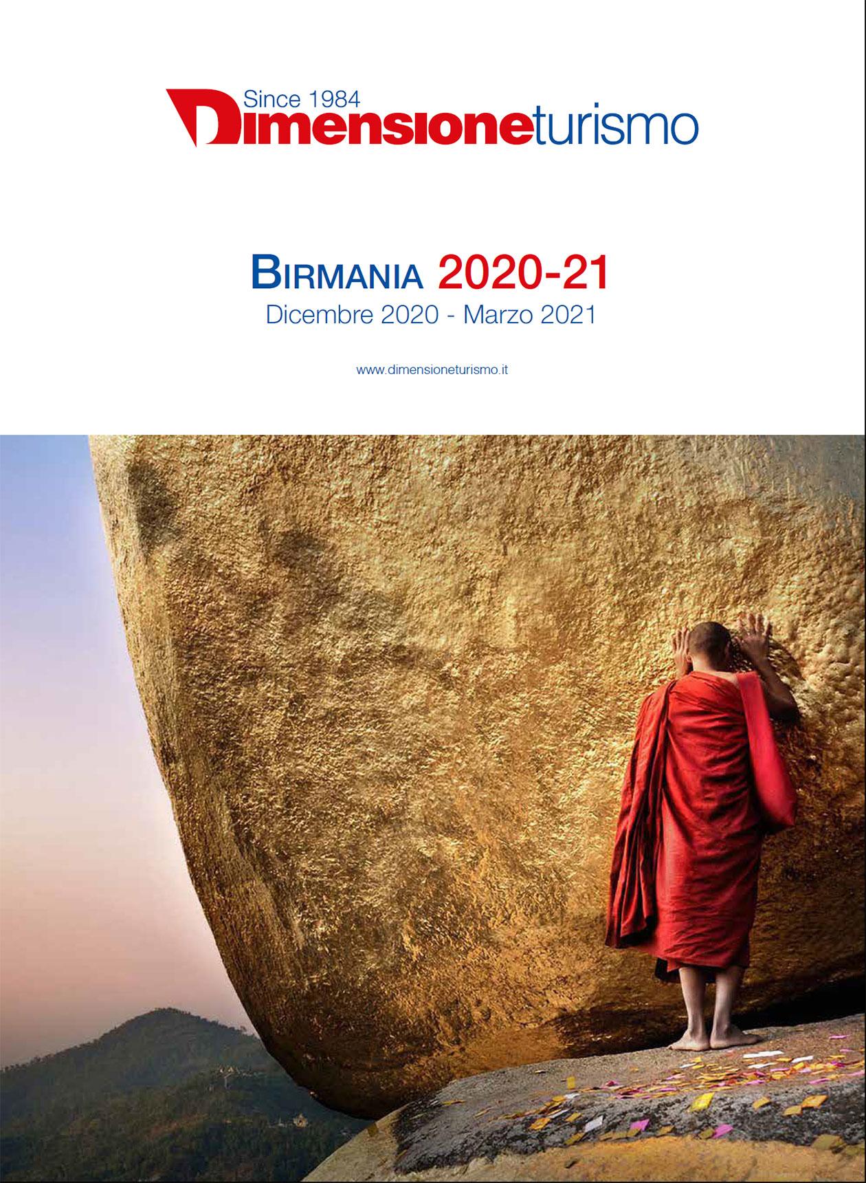 Copertina brochure  Birmania