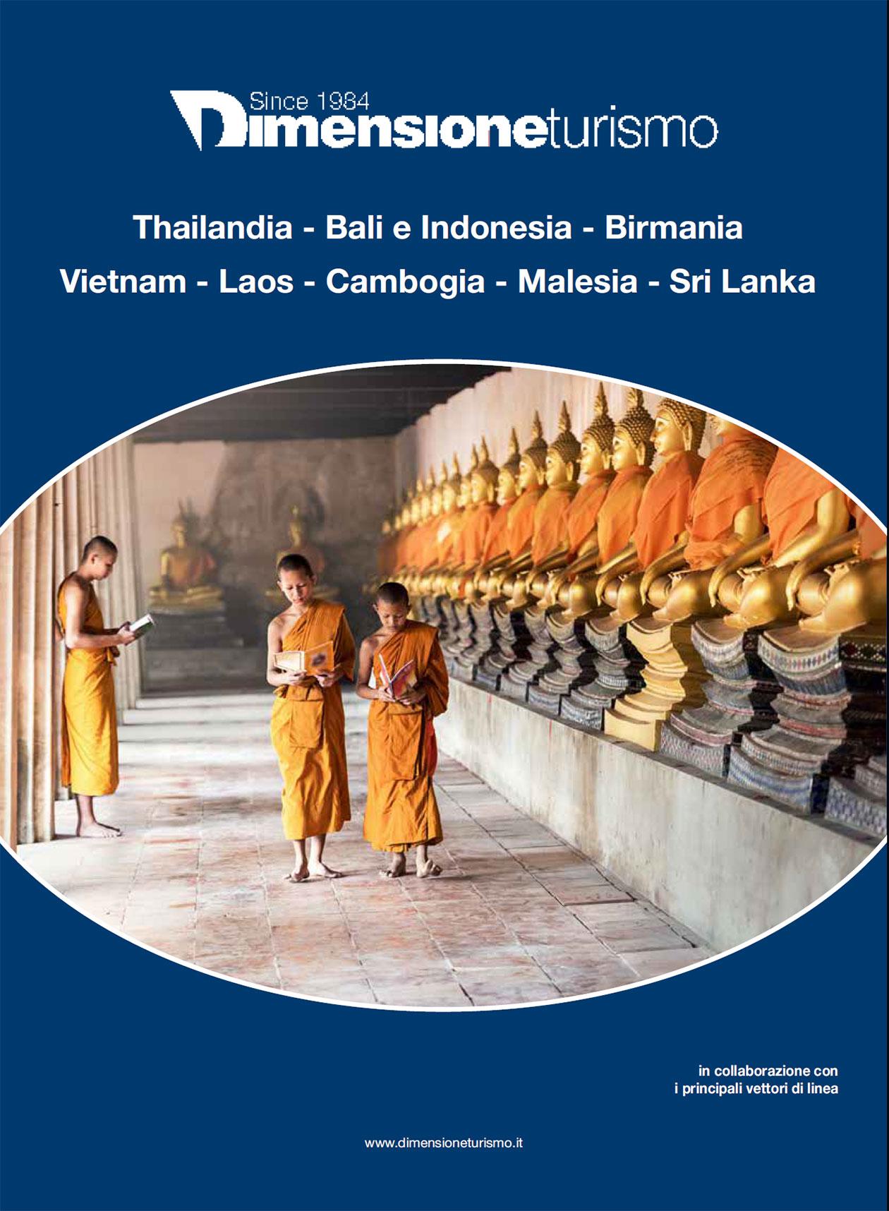 Copertina brochure Thailandia - Bali e Indonesia - Birmania Vietnam - Laos - Cambogia - Malesia - Sr